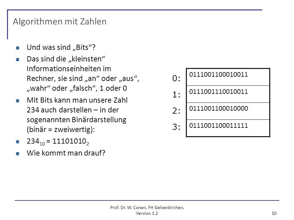 Algorithmen mit Zahlen