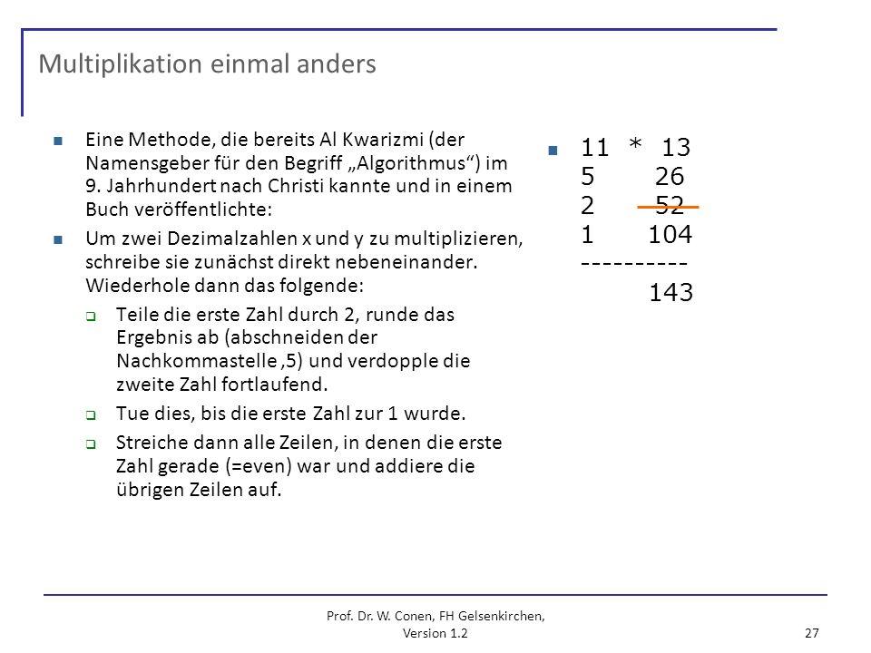 Multiplikation einmal anders