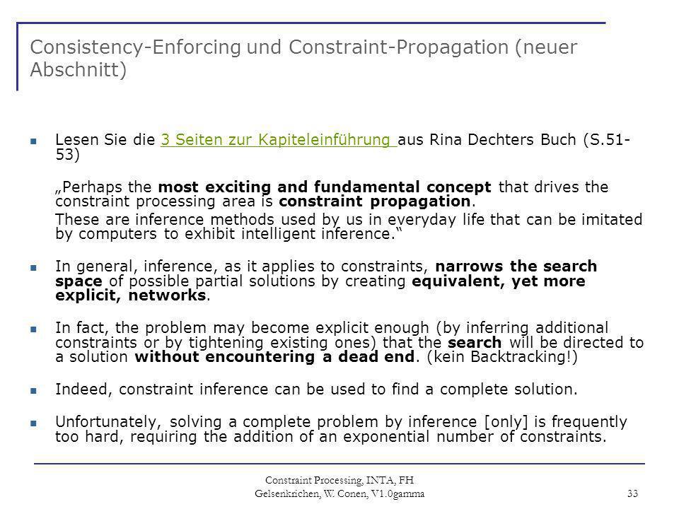 Consistency-Enforcing und Constraint-Propagation (neuer Abschnitt)