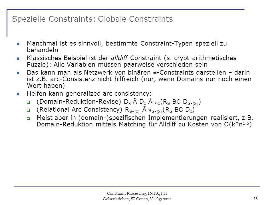 Spezielle Constraints: Globale Constraints