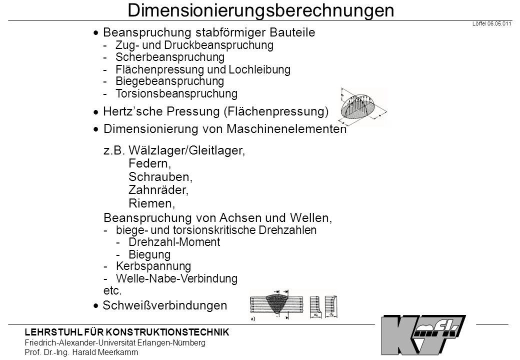 Dimensionierungsberechnungen