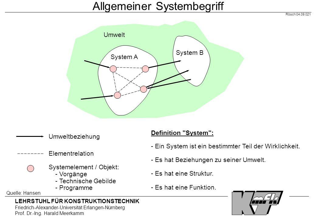 Allgemeiner Systembegriff