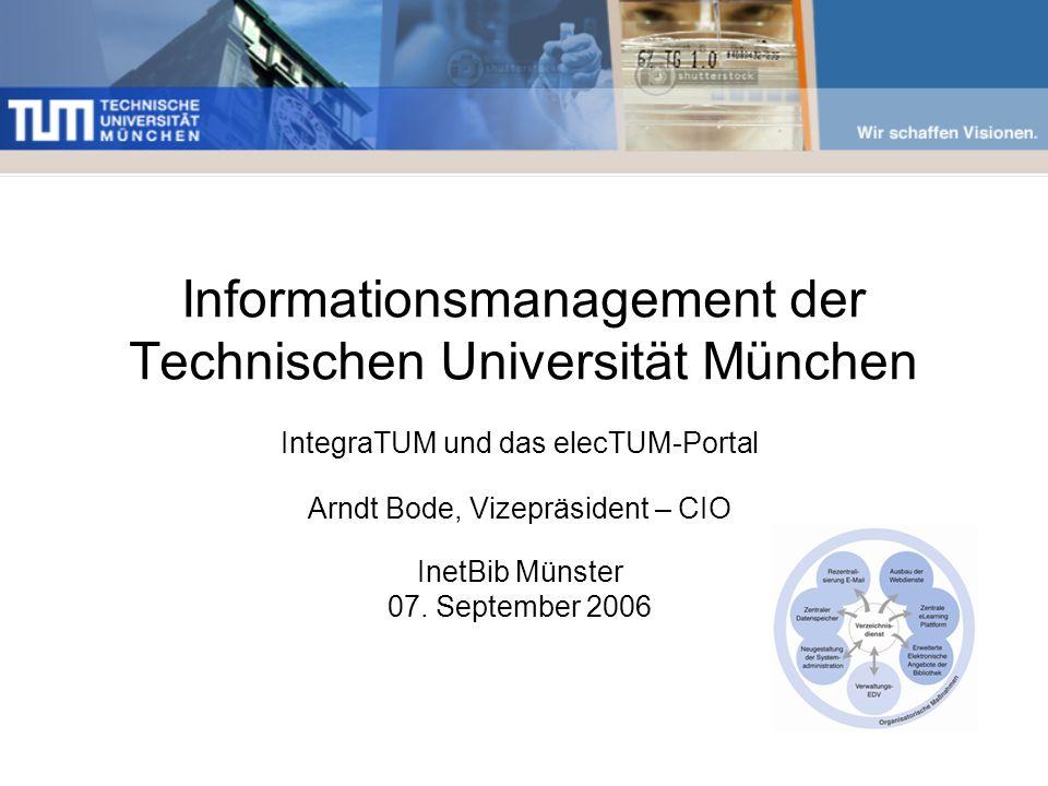 Informationsmanagement der Technischen Universität München