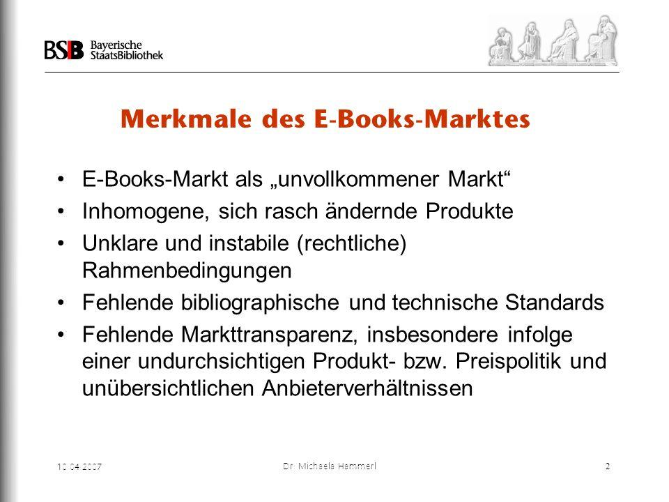Merkmale des E-Books-Marktes