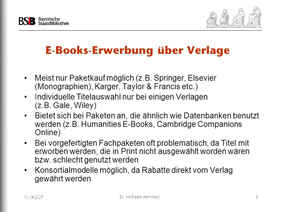 E-Books-Erwerbung über Verlage