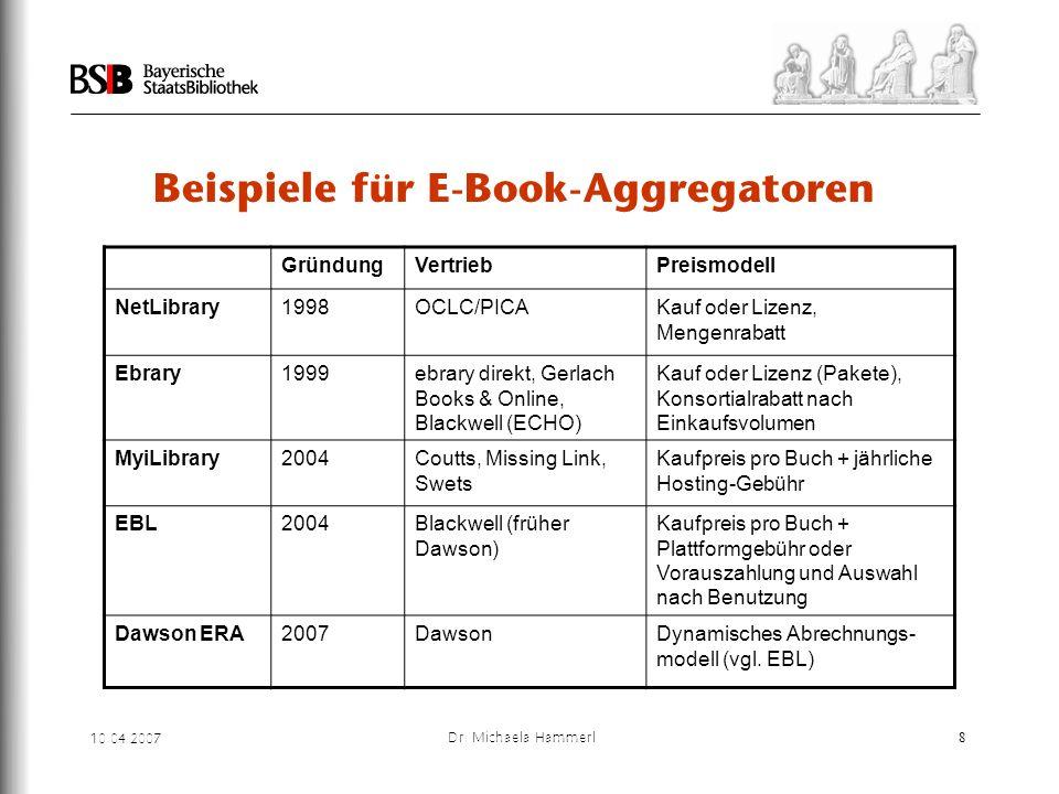 Beispiele für E-Book-Aggregatoren
