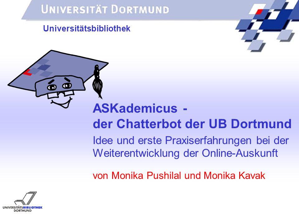 der Chatterbot der UB Dortmund