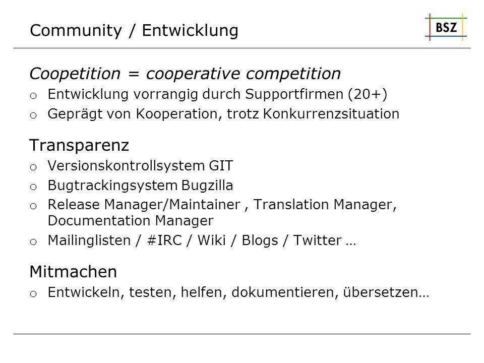 Community / Entwicklung
