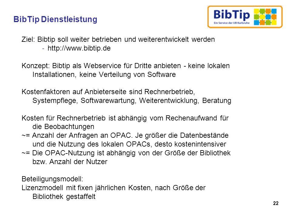 BibTip Dienstleistung