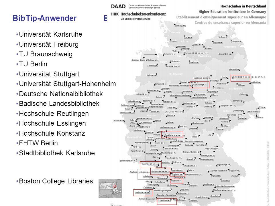 BibTip-Anwender BibTip-Anwender Universität Karlsruhe