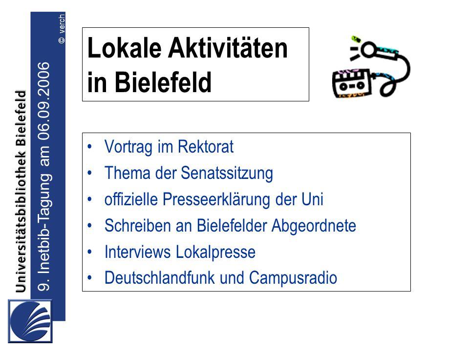 Lokale Aktivitäten in Bielefeld