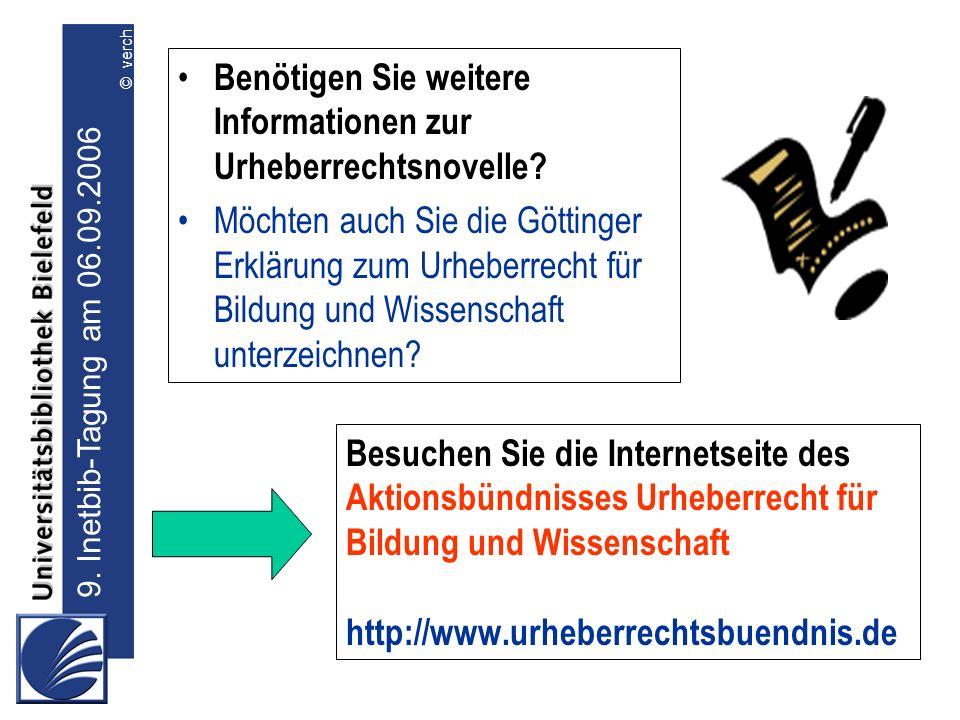 Benötigen Sie weitere Informationen zur Urheberrechtsnovelle