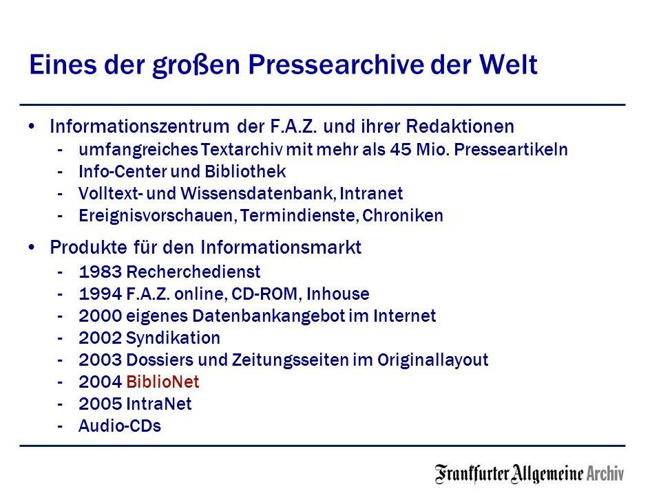 Eines der großen Pressearchive der Welt