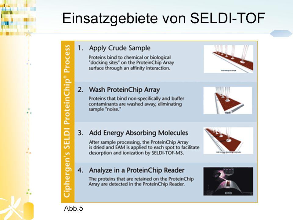 Einsatzgebiete von SELDI-TOF