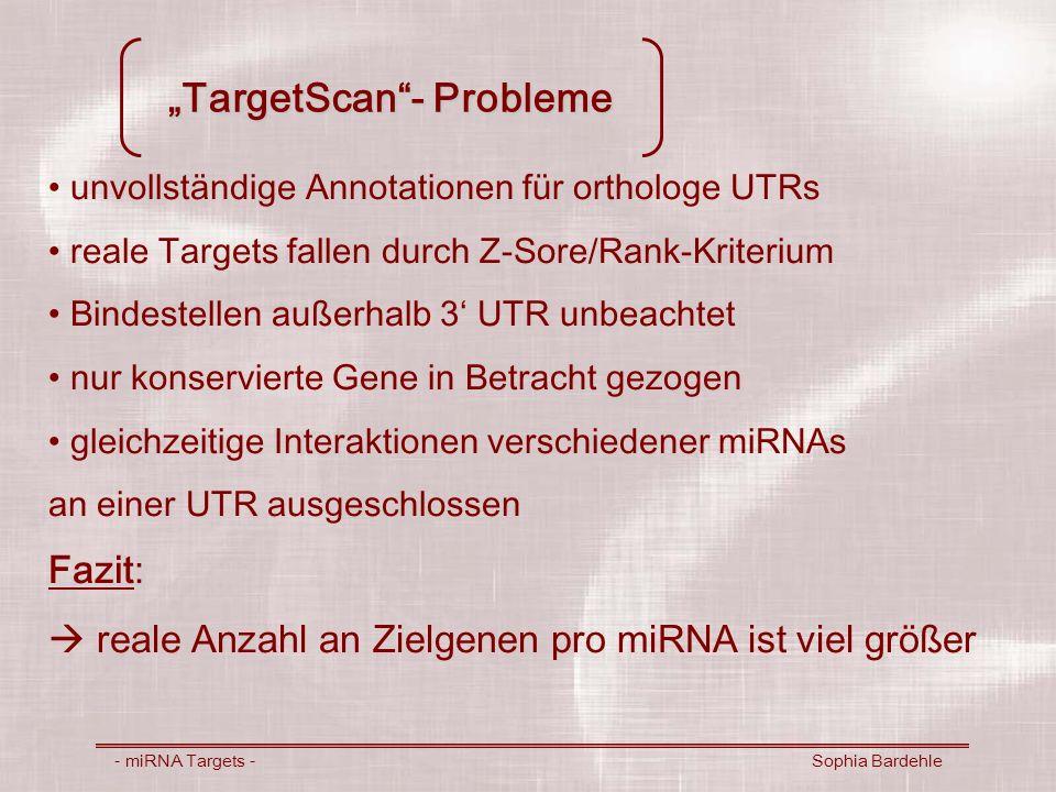 """TargetScan - Probleme"