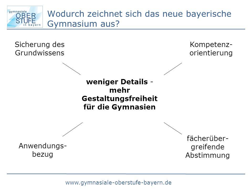 Wodurch zeichnet sich das neue bayerische Gymnasium aus