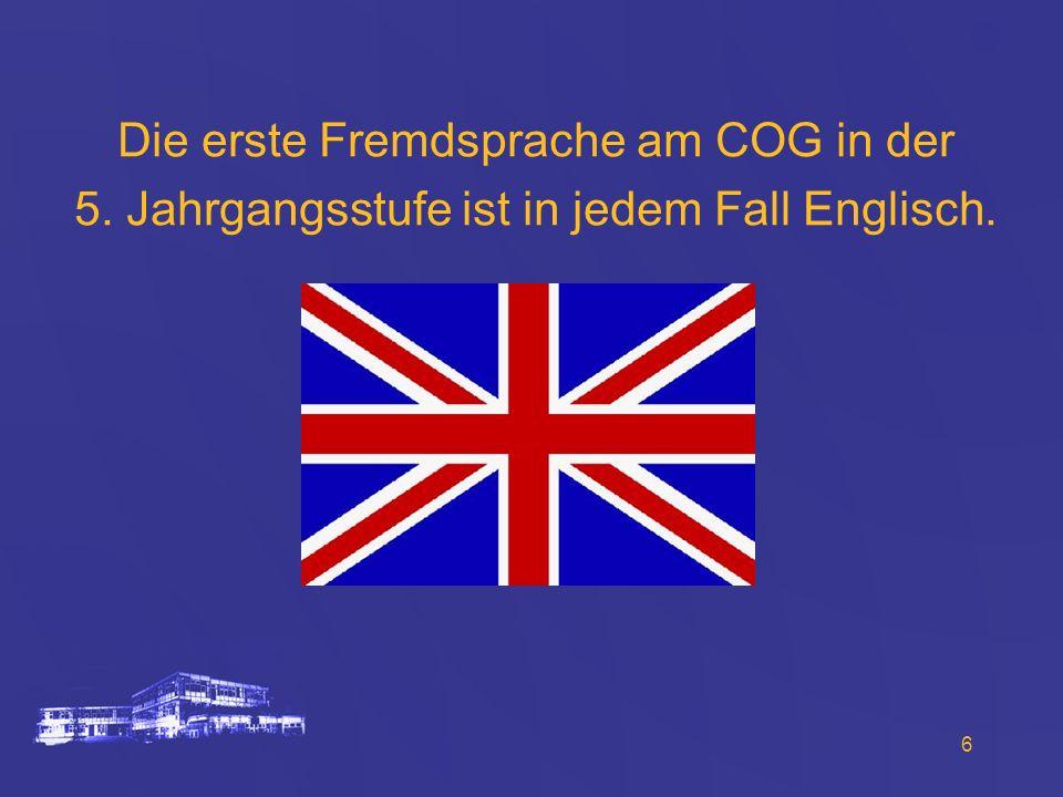 Die erste Fremdsprache am COG in der
