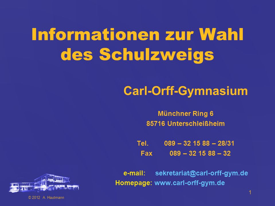 Informationen zur Wahl des Schulzweigs