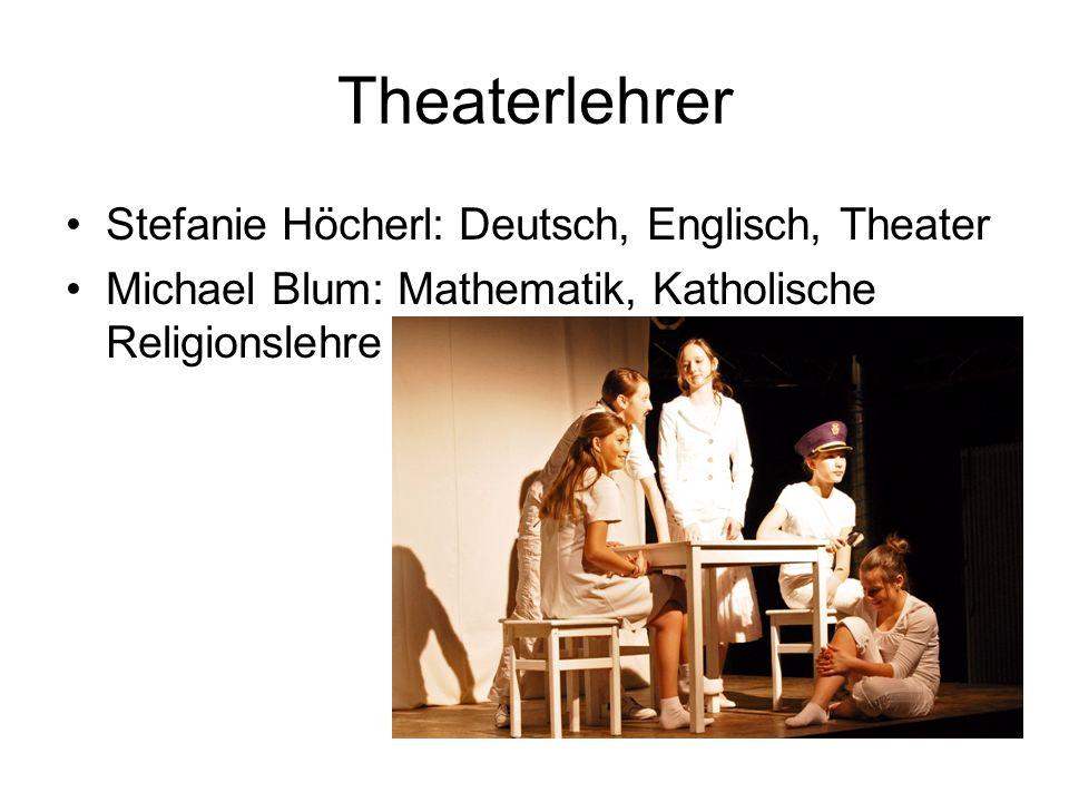 Theaterlehrer Stefanie Höcherl: Deutsch, Englisch, Theater