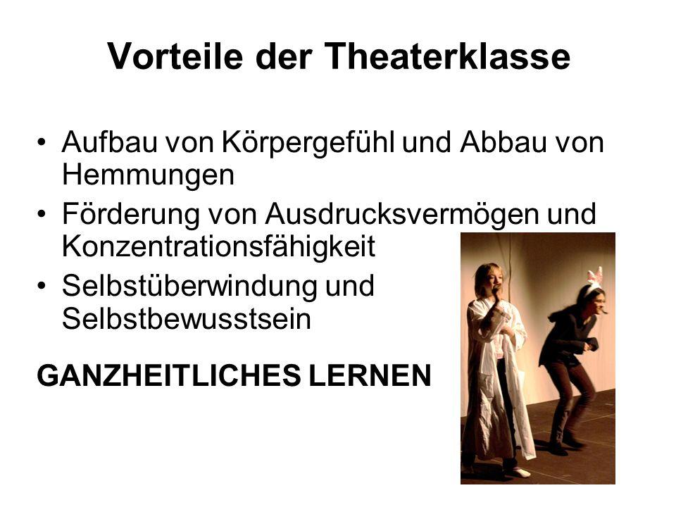 Vorteile der Theaterklasse