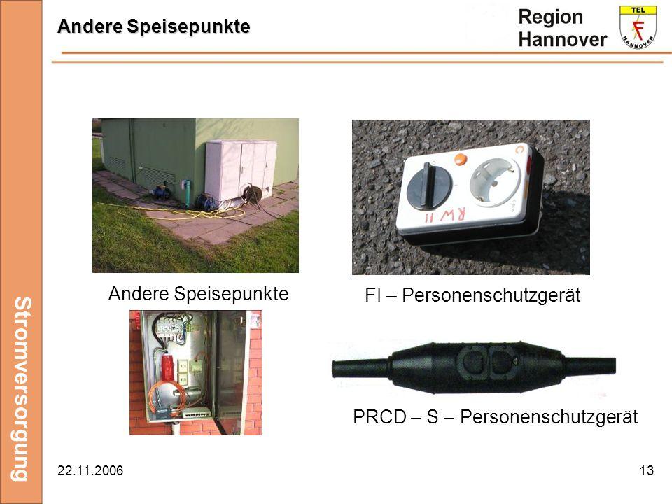 Stromversorgung Andere Speisepunkte Andere Speisepunkte