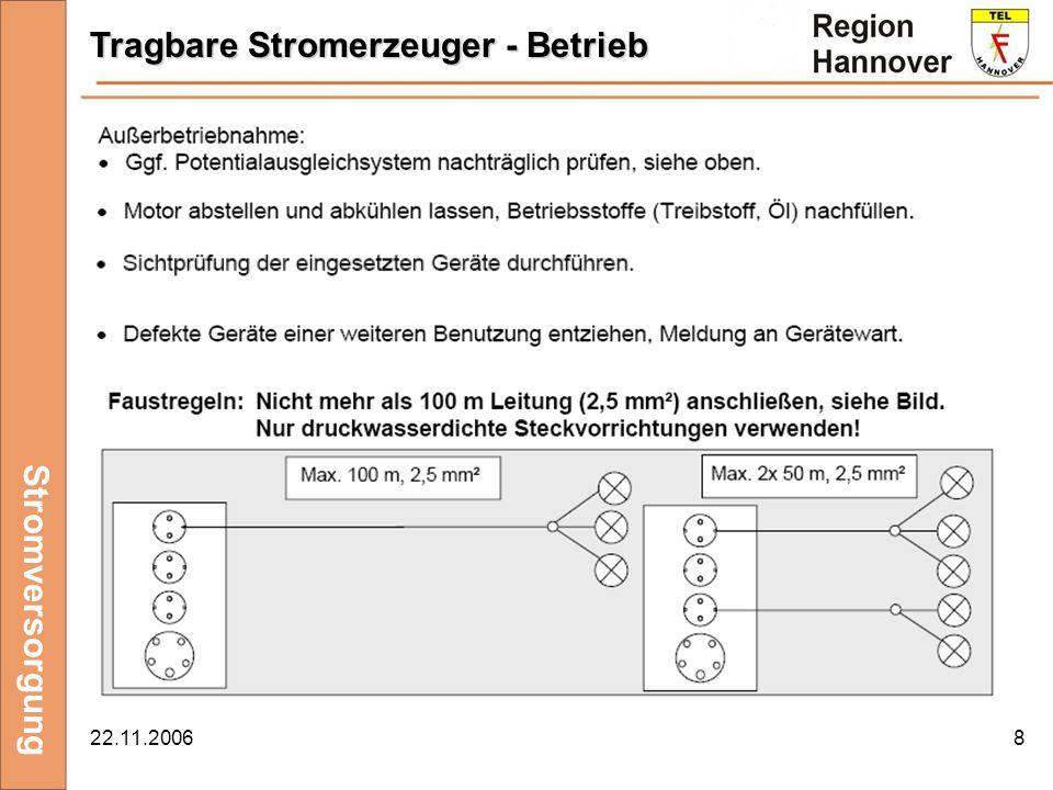 Tragbare Stromerzeuger - Betrieb