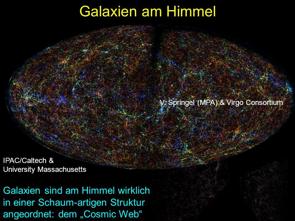Galaxien am Himmel V. Springel (MPA) & Virgo Consortium. IPAC/Caltech & University Massachusetts.