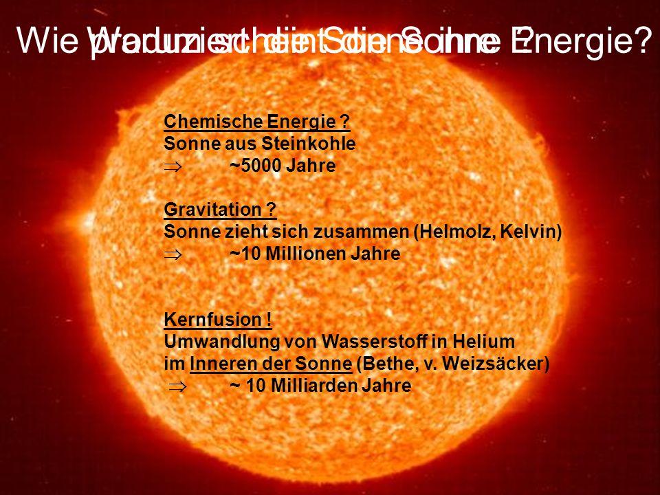 Wie produziert die Sonne ihre Energie Warum scheint die Sonne