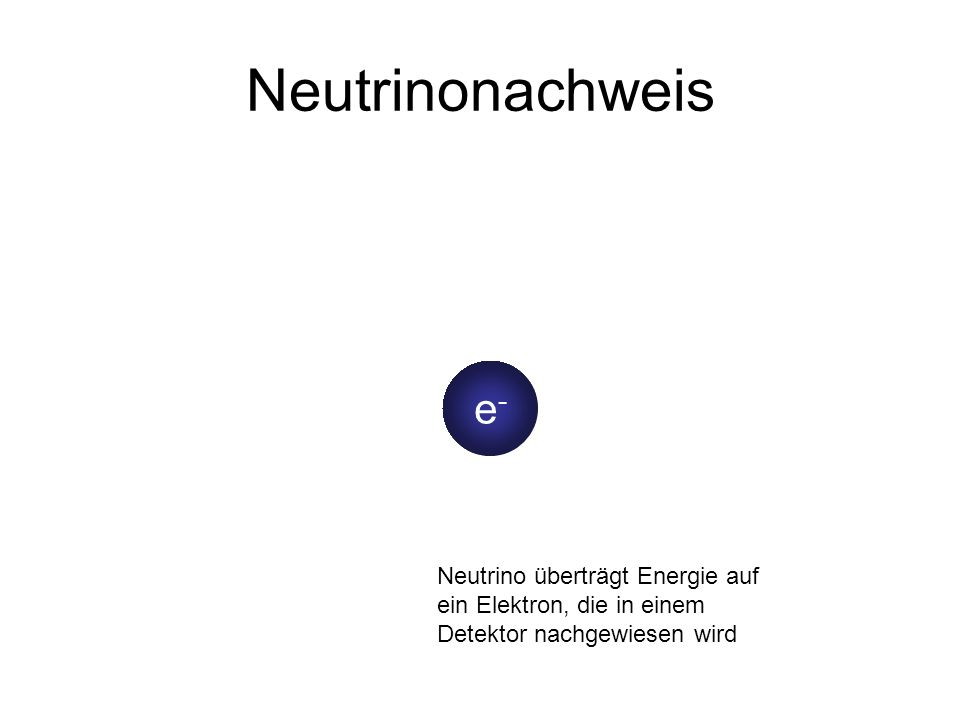 Neutrinonachweisn.