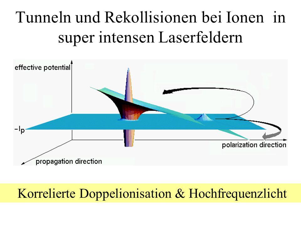 Tunneln und Rekollisionen bei Ionen in super intensen Laserfeldern