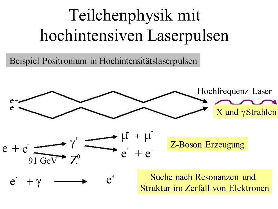 Teilchenphysik mit hochintensiven Laserpulsen