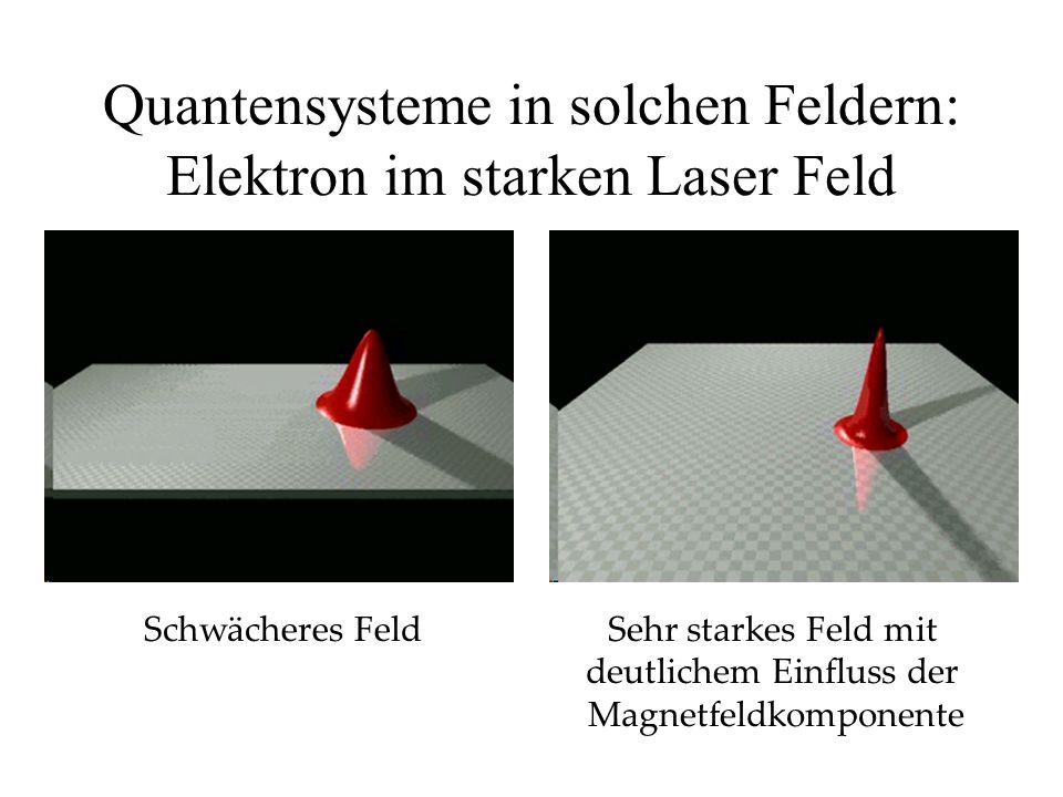 Quantensysteme in solchen Feldern: Elektron im starken Laser Feld
