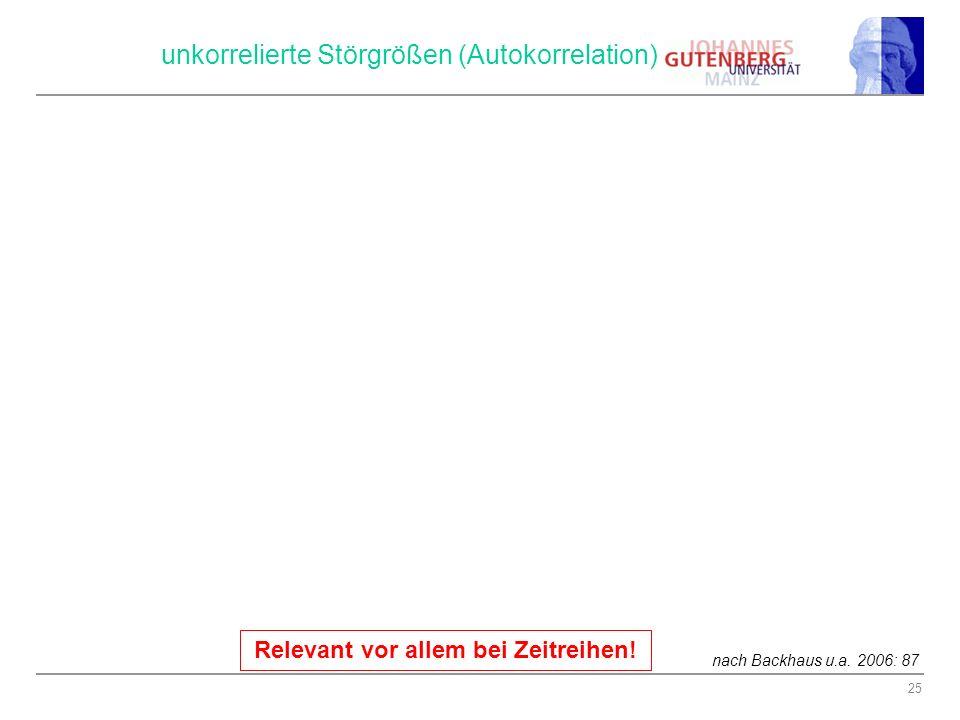 PV: Nicht unkorrelierte Störgrößen (Autokorrelation)