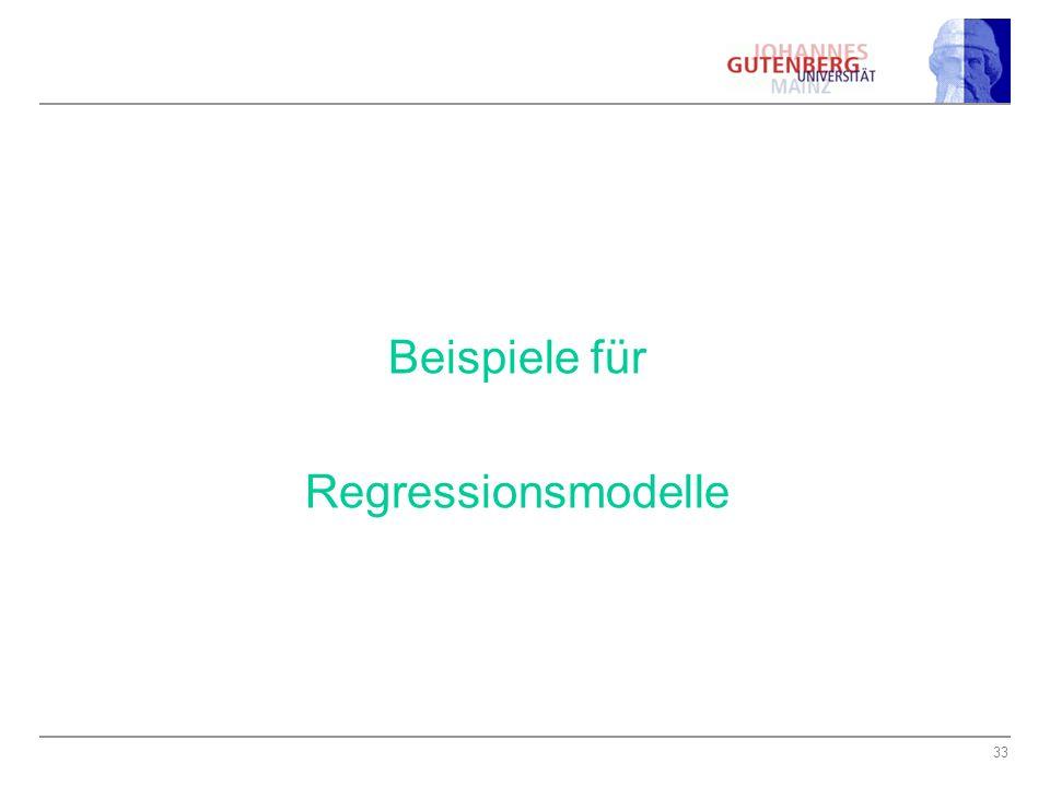 Beispiele für Regressionsmodelle