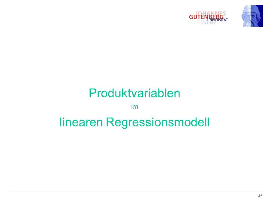 linearen Regressionsmodell