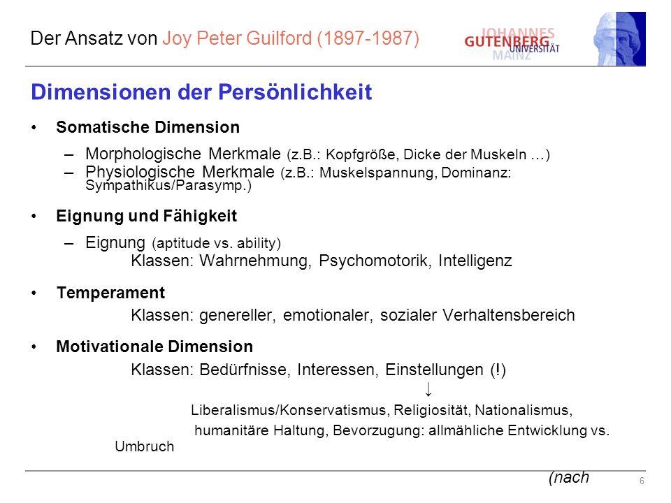 Der Ansatz von Joy Peter Guilford (1897-1987)