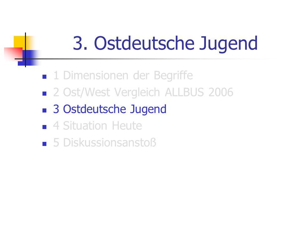 3. Ostdeutsche Jugend 1 Dimensionen der Begriffe
