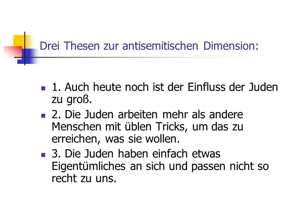 Drei Thesen zur antisemitischen Dimension: