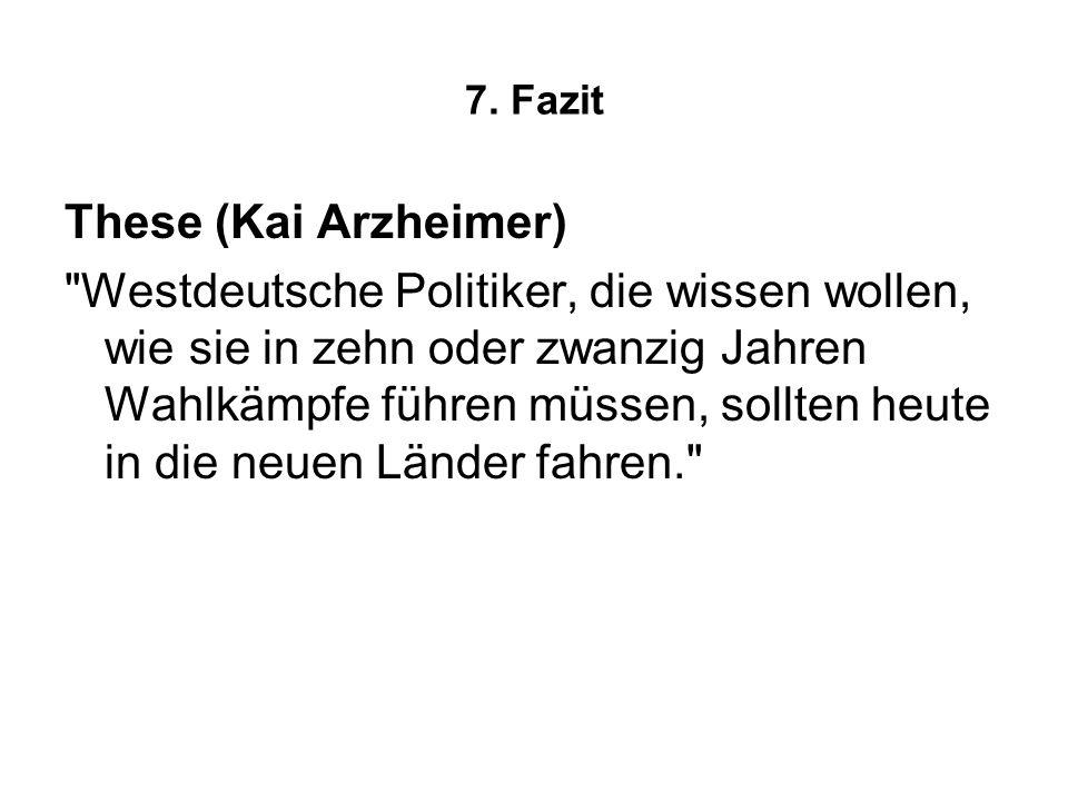 7. Fazit These (Kai Arzheimer)