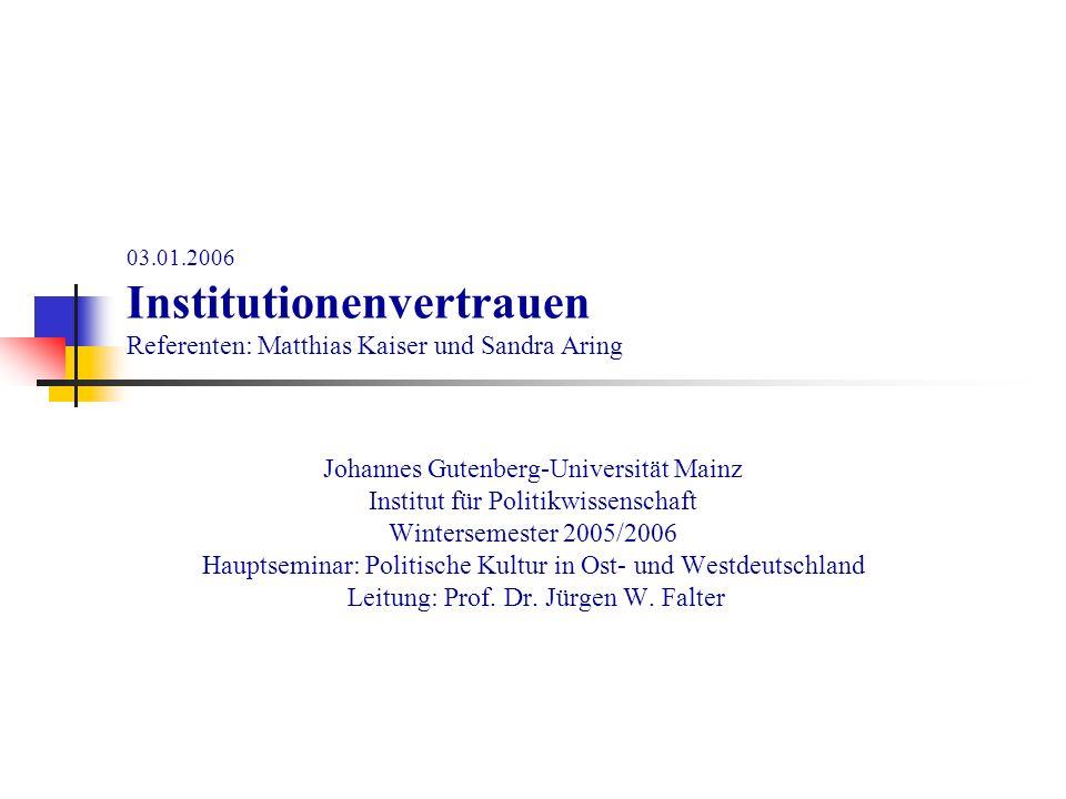 Johannes Gutenberg-Universität Mainz Institut für Politikwissenschaft