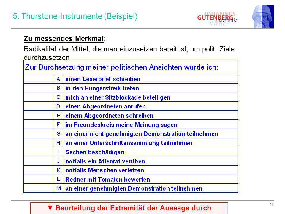 5. Thurstone-Instrumente (Beispiel)