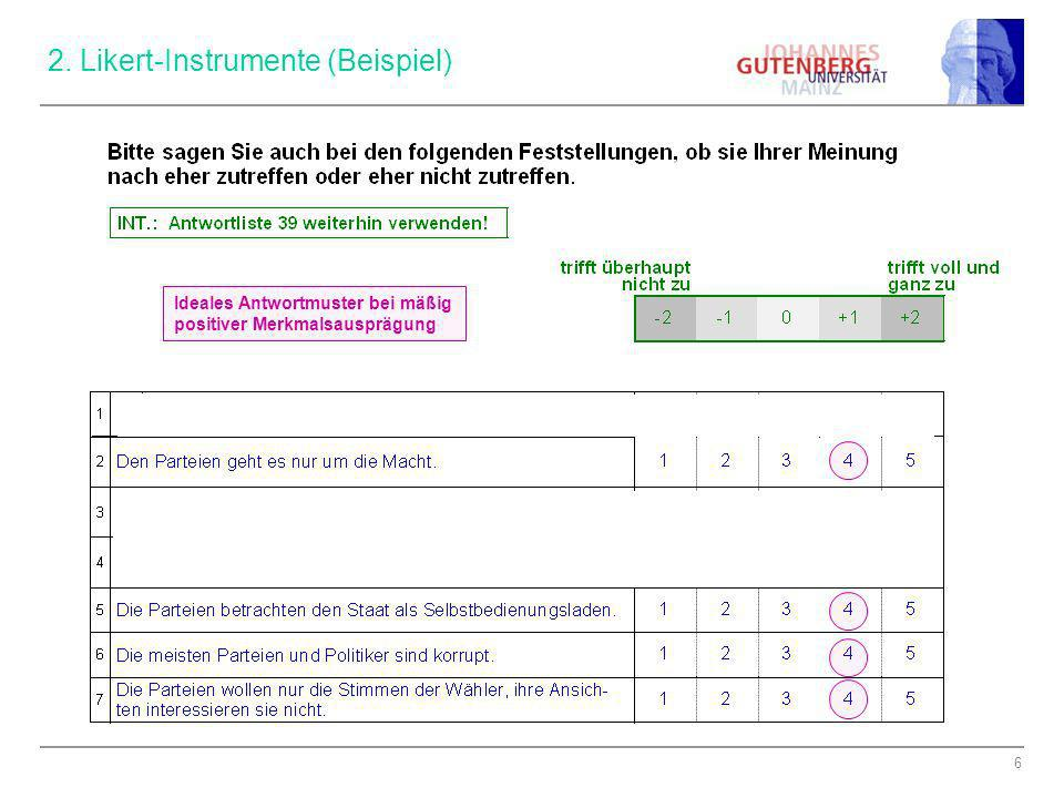 2. Likert-Instrumente (Beispiel)