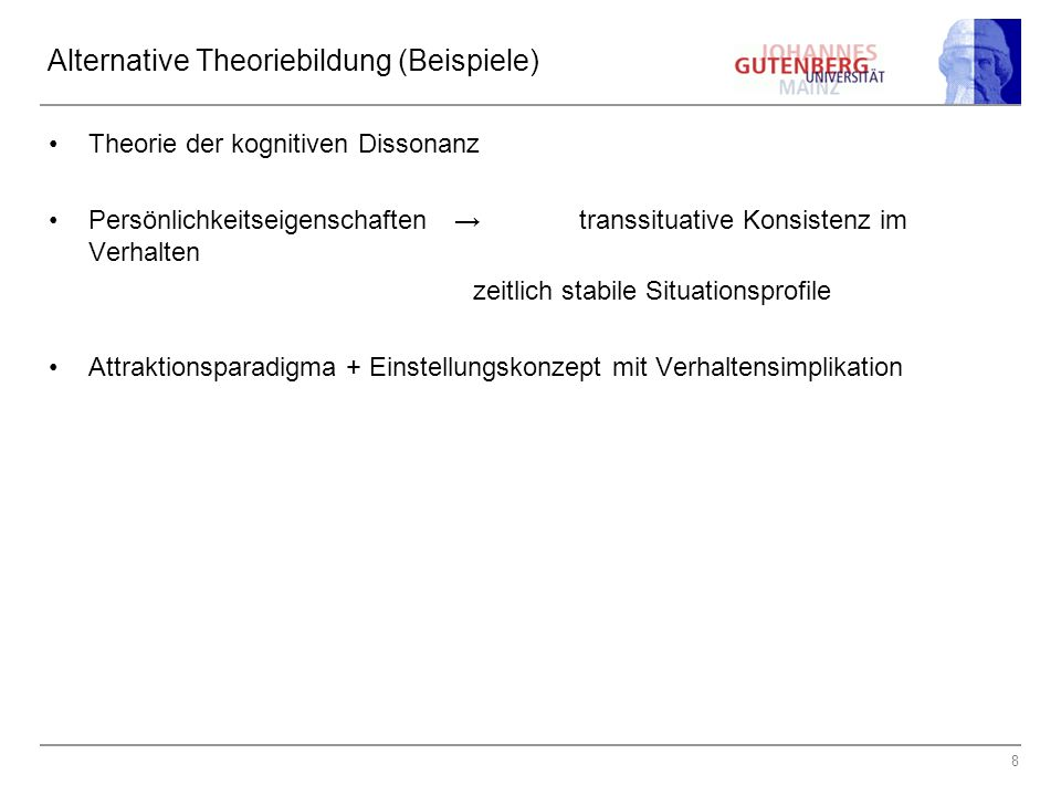 Alternative Theoriebildung (Beispiele)