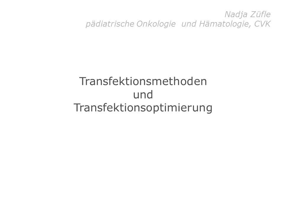 Transfektionsmethoden und Transfektionsoptimierung