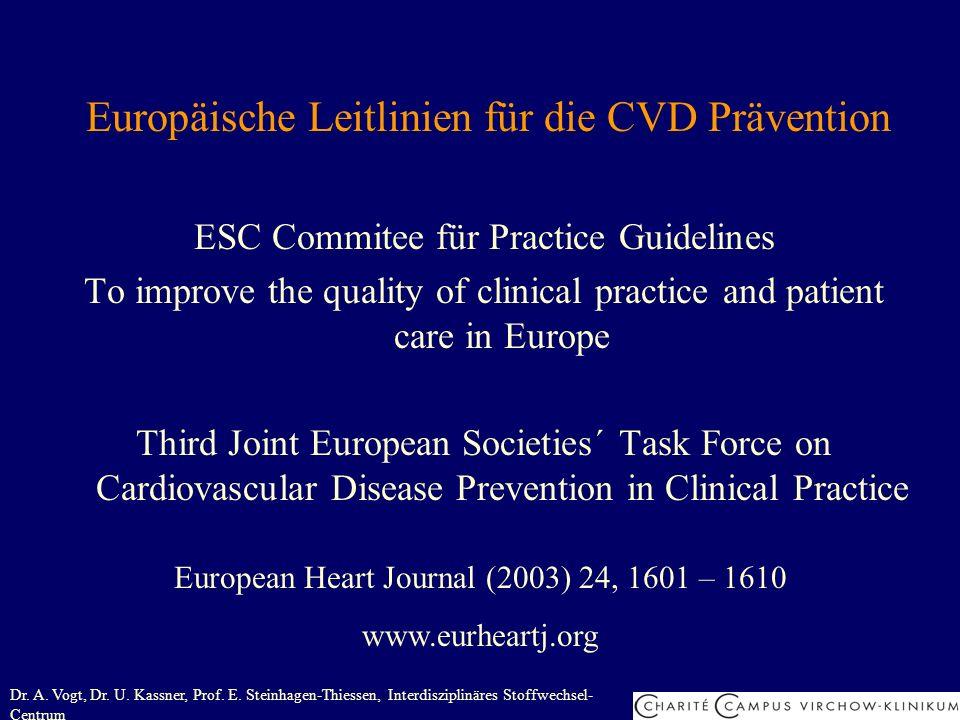 Europäische Leitlinien für die CVD Prävention