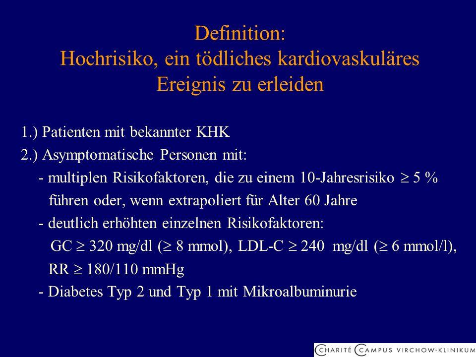 Definition: Hochrisiko, ein tödliches kardiovaskuläres Ereignis zu erleiden