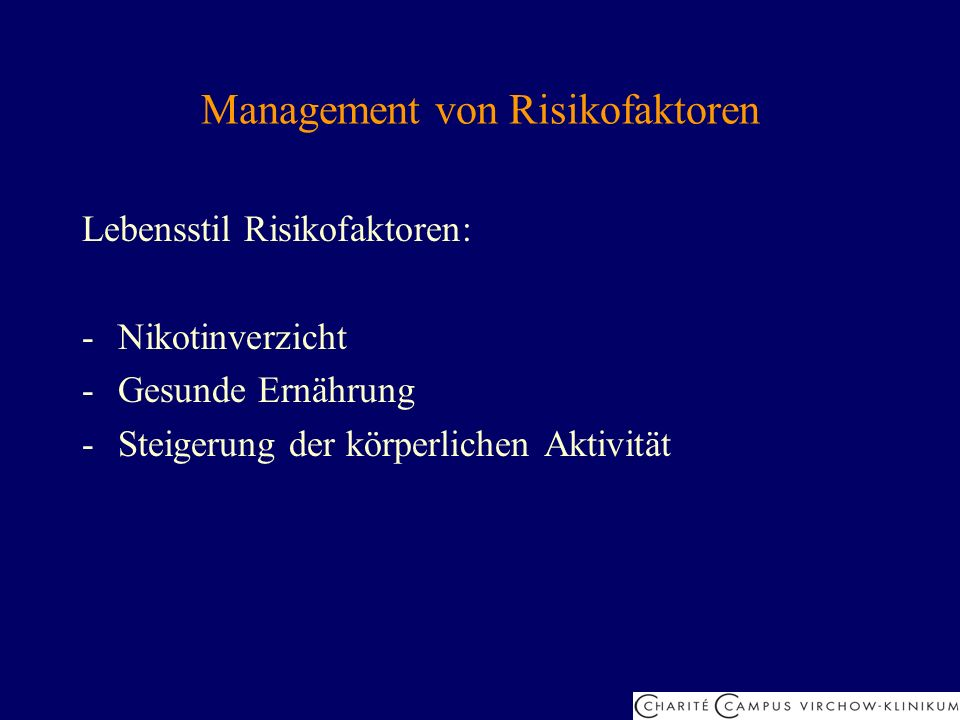 Management von Risikofaktoren