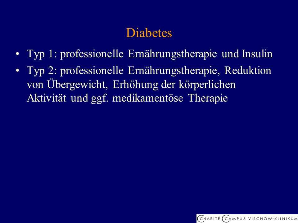 Diabetes Typ 1: professionelle Ernährungstherapie und Insulin