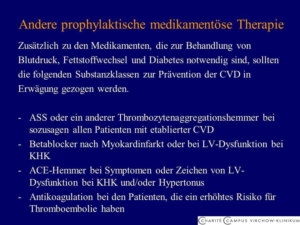 Andere prophylaktische medikamentöse Therapie