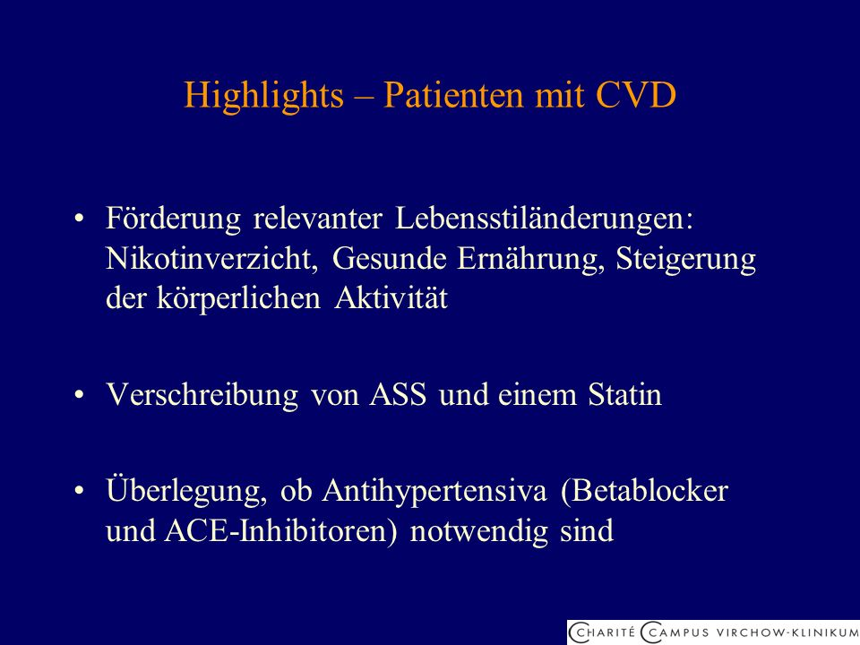 Highlights – Patienten mit CVD